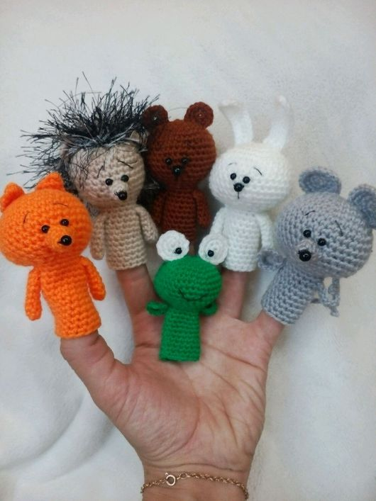 Кукольный театр ручной работы. Ярмарка Мастеров - ручная работа. Купить Лесные животные. Handmade. Лесные животные, пальчиковые игрушки