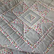 """Для дома и интерьера ручной работы. Ярмарка Мастеров - ручная работа Лоскутное покрывало (одеяло) """"Цветочная нежность"""". Handmade."""