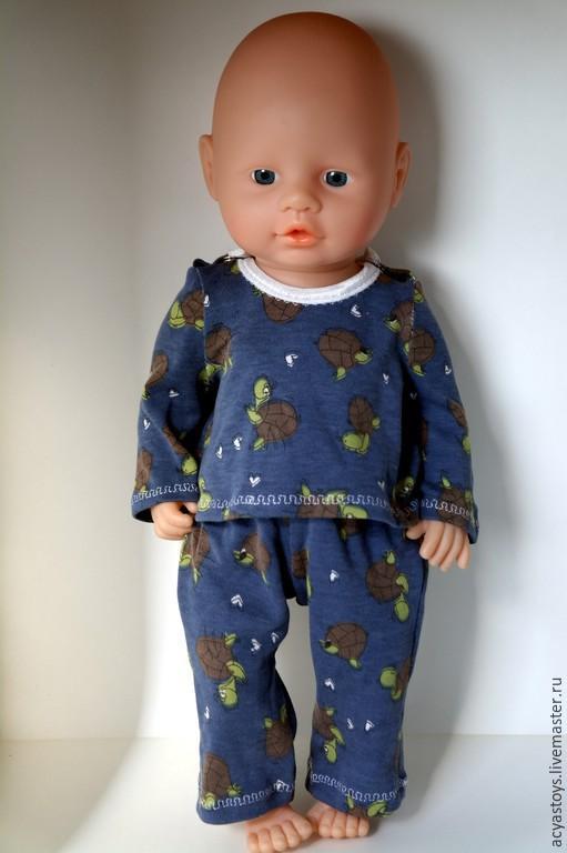 Одежда для кукол ручной работы. Ярмарка Мастеров - ручная работа. Купить Трикотажная пижама для пупса, а-ля Беби  Бон. Handmade.