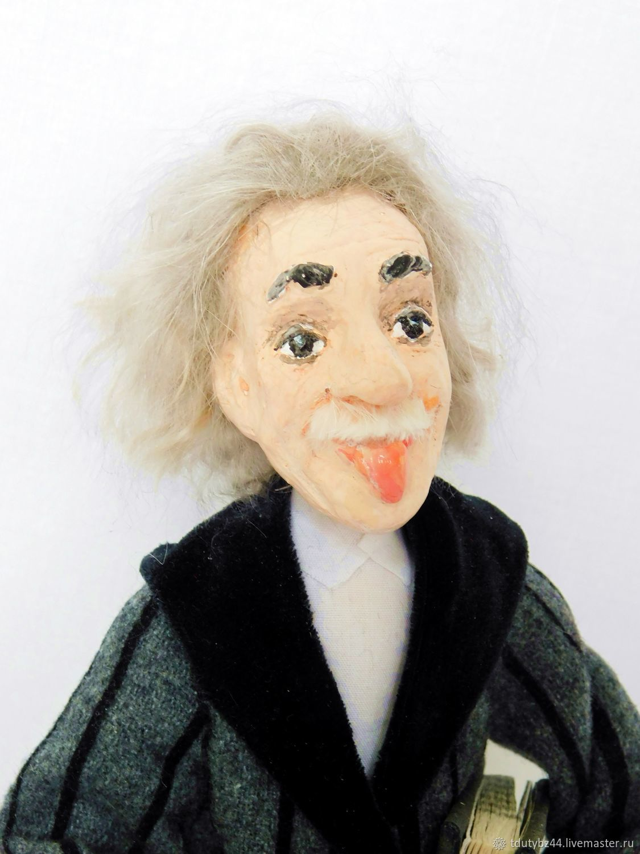 Портретные куклы ручной работы. Ярмарка Мастеров - ручная работа. Купить ЭЙНШТЕЙН авторская кукла. Handmade. Коллекционная кукла, ткань