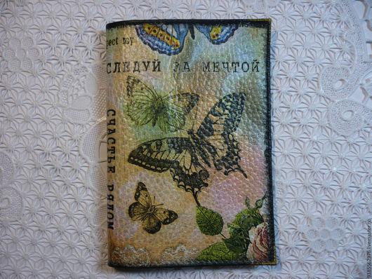Обложки ручной работы. Ярмарка Мастеров - ручная работа. Купить Обложка на паспорт Бабочки к 8 Марта. Handmade. Комбинированный, бабочки