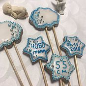 Пряники ручной работы. Ярмарка Мастеров - ручная работа Топперы в торт, имбирные пряники. Handmade.