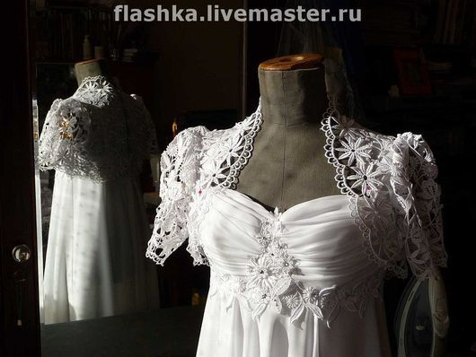Одежда и аксессуары ручной работы. Ярмарка Мастеров - ручная работа. Купить Свадебное платье в стиле ампир. Handmade. Свадебное платье