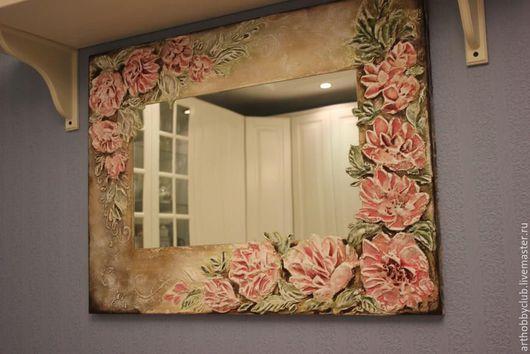 Зеркала ручной работы. Ярмарка Мастеров - ручная работа. Купить Зеркало с лепниной. Handmade. Зеркало, интерьер, зеркало ручной работы