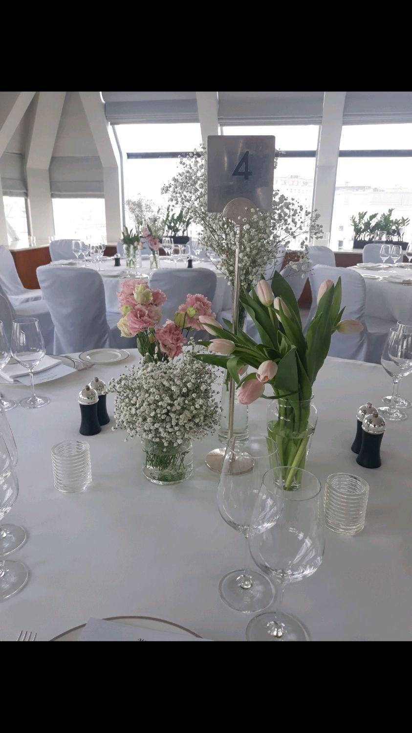 Свадебные цветы ручной работы. Ярмарка Мастеров - ручная работа. Купить Оформление столов гостей на свадьбу. Handmade. Тюльпаны, эустома