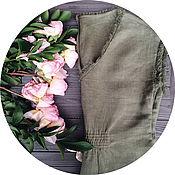 Одежда ручной работы. Ярмарка Мастеров - ручная работа Платье с резинкой на талии и накладными карманами. Handmade.