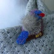 Украшения handmade. Livemaster - original item A beaded brooch +mink