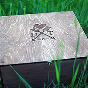 Свадебный салон ручной работы. Ярмарка Мастеров - ручная работа коробка для вина из дерева. Handmade.