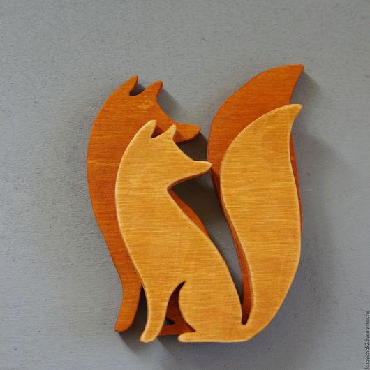 Игрушки животные, ручной работы. Ярмарка Мастеров - ручная работа. Купить лисички. Handmade. Оранжевый, лисичка игрушка, фигурки из дерева