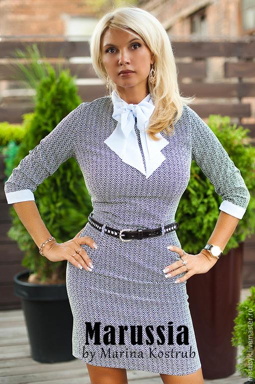 Платья ручной работы. Ярмарка Мастеров - ручная работа. Купить платье РЧ-21-бизнес-3. Handmade. Серый