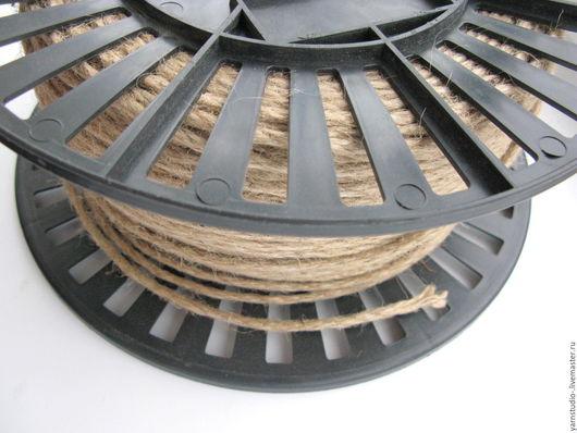 Другие виды рукоделия ручной работы. Ярмарка Мастеров - ручная работа. Купить Шнур джутовый 4 мм. Цена за метр.. Handmade.