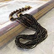 Украшения handmade. Livemaster - original item Necklace beads of pyrite and hematite.. Handmade.