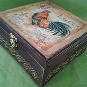 Для дома и интерьера ручной работы. Ярмарка Мастеров - ручная работа Чайная коробка Lecog. Handmade.