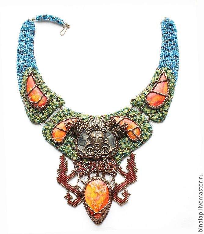 Necklace 'the Owner of the enchanted forest', Necklace, Moscow,  Фото №1