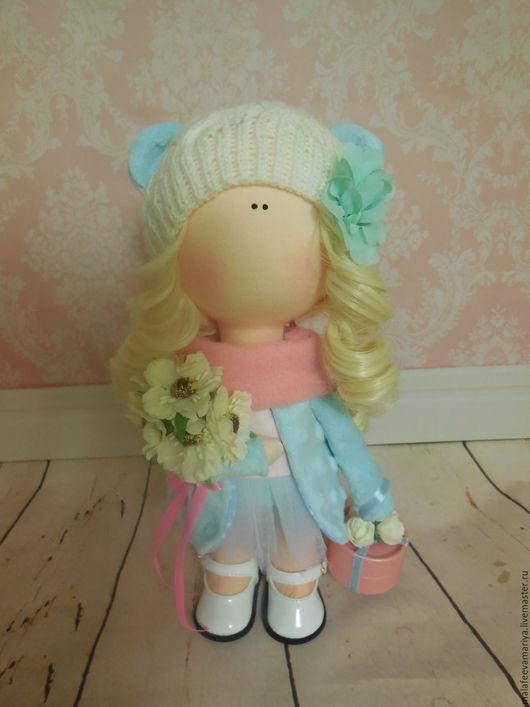 Коллекционные куклы ручной работы. Ярмарка Мастеров - ручная работа. Купить Teddy Bear-Doll. Handmade. Бирюзовый, текстильная кукла