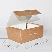 Коробки ручной работы. Ярмарка Мастеров - ручная работа Крафт-коробка NEW - 120х85х50мм. Handmade.