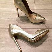 Обувь ручной работы. Ярмарка Мастеров - ручная работа Туфли Karin Gold. Handmade.