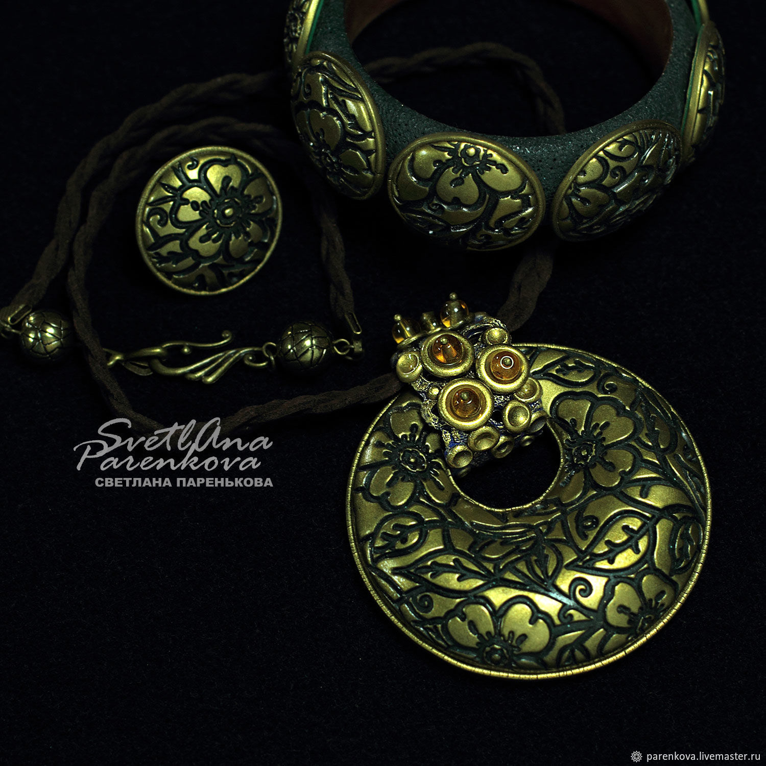 Gold jewelry set (475) handmade by the author, Jewelry Sets, Salavat,  Фото №1