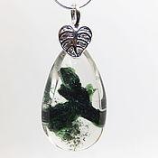 Украшения handmade. Livemaster - original item Lodolite pendant Great music of the forest (quartz, chlorite). Handmade.