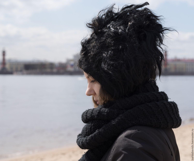 "Шапка валяная ""Black S"", Caps, St. Petersburg,  Фото №1"