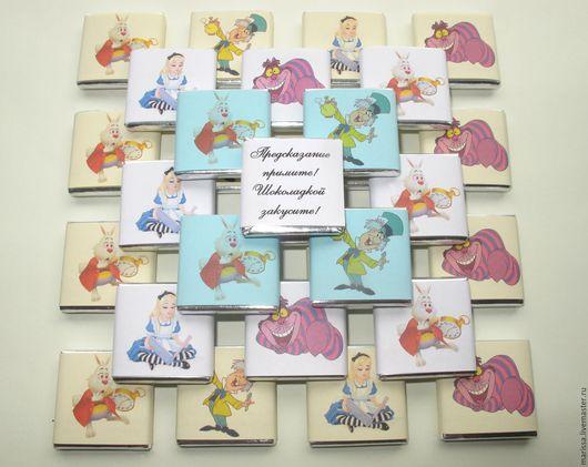 """Свадебные аксессуары ручной работы. Ярмарка Мастеров - ручная работа. Купить Сладкие послания от героев сказки """"Алиса в стране чудес """". Handmade."""