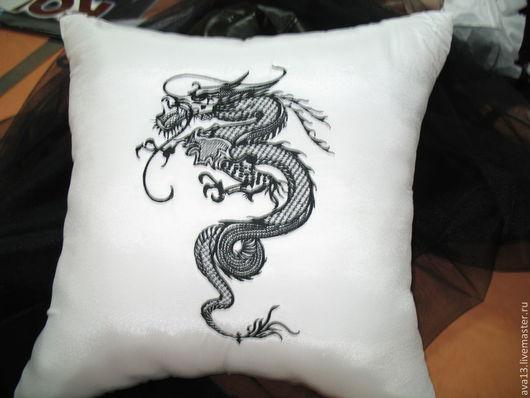 Текстиль, ковры ручной работы. Ярмарка Мастеров - ручная работа. Купить Диванная подушка. Handmade. Подушка, лён, шерсть