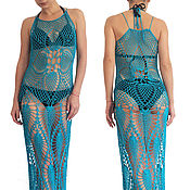 Одежда handmade. Livemaster - original item Beach dress crochet, tunic for the beach. Handmade.
