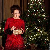 """Одежда ручной работы. Ярмарка Мастеров - ручная работа нарядное  платье """"красное и черное"""". Handmade."""