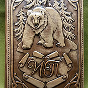 "Канцелярские товары handmade. Livemaster - original item Leather notebook ""WILD BEAR"". Handmade."