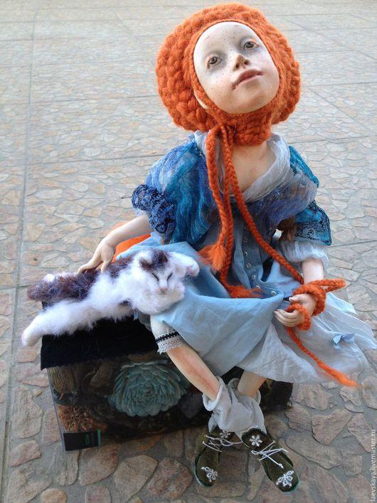 Коллекционные куклы ручной работы. Ярмарка Мастеров - ручная работа. Купить Интерьерная кукла. Handmade. Голубой, интересный подарок