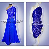 Одежда handmade. Livemaster - original item Lace short dress with a long skirt