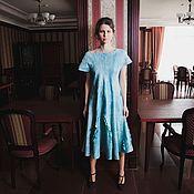 Одежда handmade. Livemaster - original item Mint felted flared dress. Handmade.