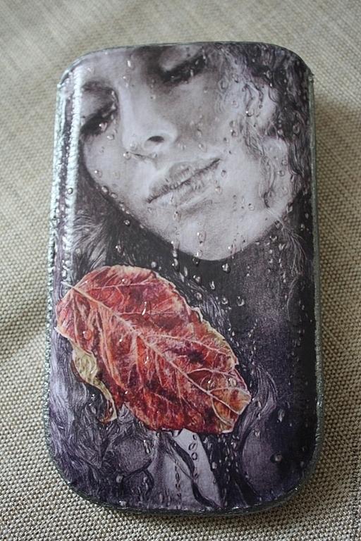"""Для телефонов ручной работы. Ярмарка Мастеров - ручная работа. Купить Чехол для телефона """"Слезы дождя"""". Handmade. Белый"""