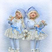 Куклы и игрушки ручной работы. Ярмарка Мастеров - ручная работа Девочки-снежинки.. Handmade.
