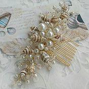 Свадебный салон handmade. Livemaster - original item wedding comb. decoration in her hair. shell.. Handmade.