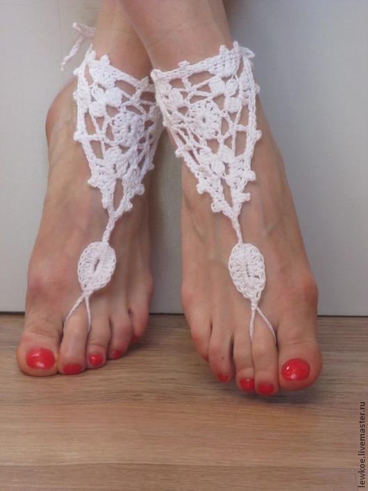 Обувь ручной работы. Ярмарка Мастеров - ручная работа. Купить Пляжные босоножки. Handmade. Подарок, подарок женщине, аксессуары для фотосессий