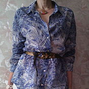 Одежда ручной работы. Ярмарка Мастеров - ручная работа Блузка батистовая  Wedgwoog - Английский фарфор. Handmade.