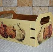 Для дома и интерьера ручной работы. Ярмарка Мастеров - ручная работа Средняя корзинка для лука-чеснока. Handmade.