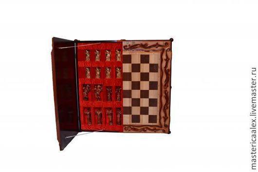 Мебель ручной работы. Ярмарка Мастеров - ручная работа. Купить шахматный стол. Handmade. Шахматный стол, подарок на 23 февраля