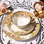 Винтаж handmade. Livemaster - original item Schoenau (1933-1956) Tea trio.Germany.. Handmade.