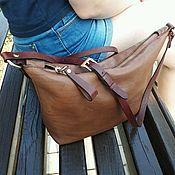 Сумки и аксессуары handmade. Livemaster - original item Women`s handbag-crossbody genuine leather.. Handmade.