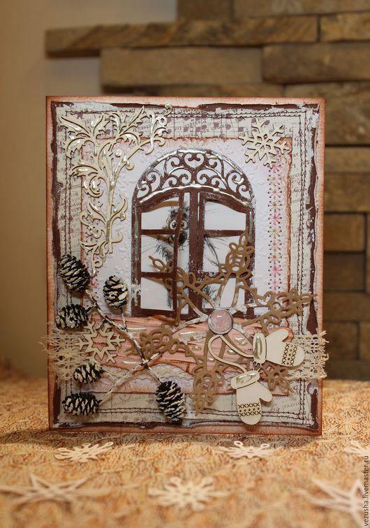 """Открытки к Новому году ручной работы. Ярмарка Мастеров - ручная работа. Купить Новогодняя открытка """" Pretty Rabbit """". Handmade."""