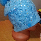 Аксессуары ручной работы. Ярмарка Мастеров - ручная работа Шапка с помпоном двойная из качественной полушерсти. Handmade.