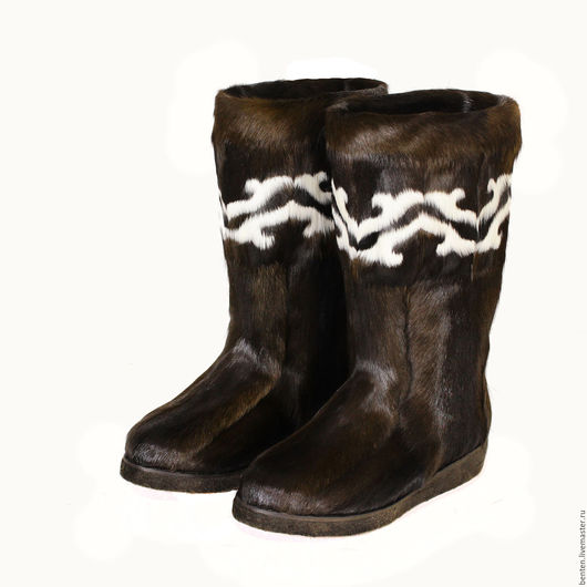Обувь ручной работы. Ярмарка Мастеров - ручная работа. Купить Унты из камуса оленя арт.7799. Handmade. Коричневый, пимы