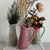 Для дома и интерьера ручной работы. Ярмарка Мастеров - ручная работа Фактурные керамические кувшины. Handmade.