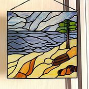 Картины и панно handmade. Livemaster - original item stained glass panels beach dreams. Handmade.