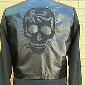 Одежда handmade. Livemaster - original item Women`s jacket with appliqued stylized skull R. .44. Handmade.