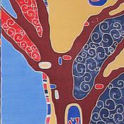 """Аксессуары ручной работы. Ярмарка Мастеров - ручная работа шарф """"Дерево"""" вариант 3. Handmade."""