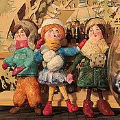 Куклы и игрушки ручной работы. Ярмарка Мастеров - ручная работа Проданы. Ватные игрушки  3 шт.. Handmade.