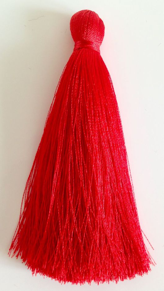 Для украшений ручной работы. Ярмарка Мастеров - ручная работа. Купить шелковая кисточка (красная). Handmade. Сотуар, сотуар длинный
